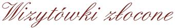 Wizytówki złocone logo